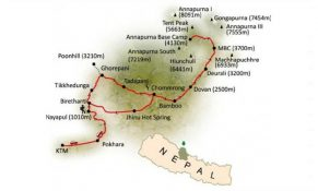 Annapurna Base Camp Trek Map
