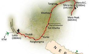 Mera Peak Climbing Map