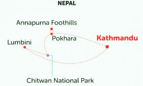 Trishuli River Rafting Map