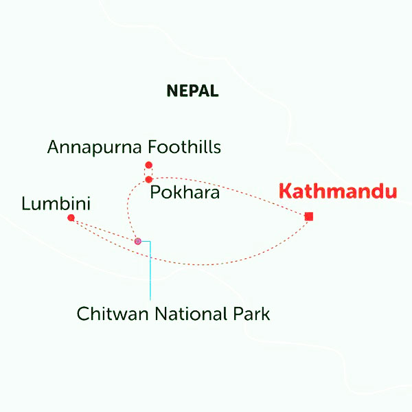 Annapurna Helicopter Tour Map