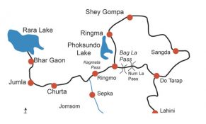 Rara Lake Trek Map