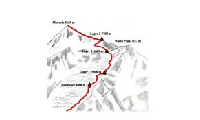 Manaslu Expedition Map