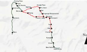 Nar Phu Trek Map